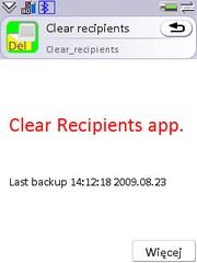 Clear recipients